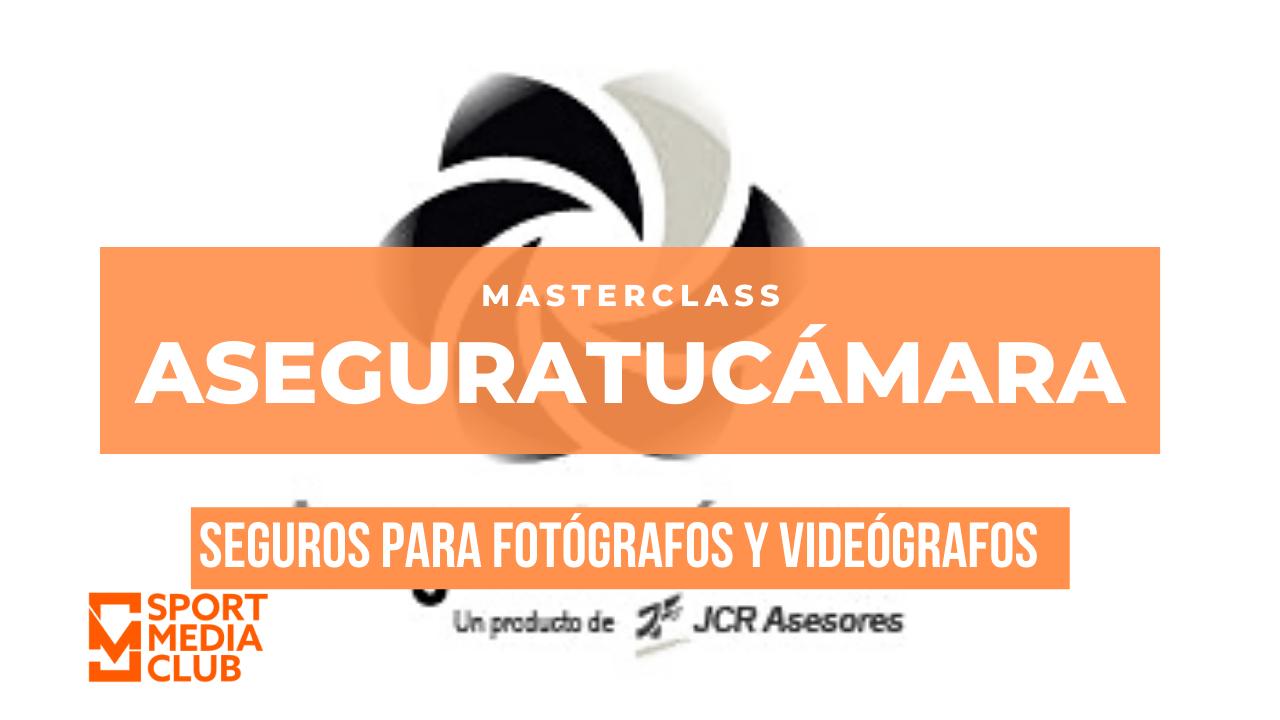 Cartel Aseguratucámara, seguros para fotógrafos y videógrafos